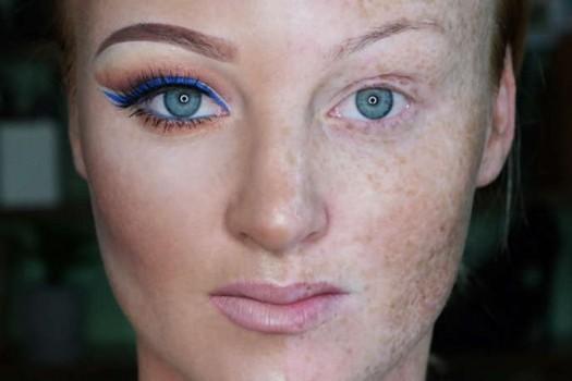Новый флэшмоб в соцсетях — макияж на пол-лица