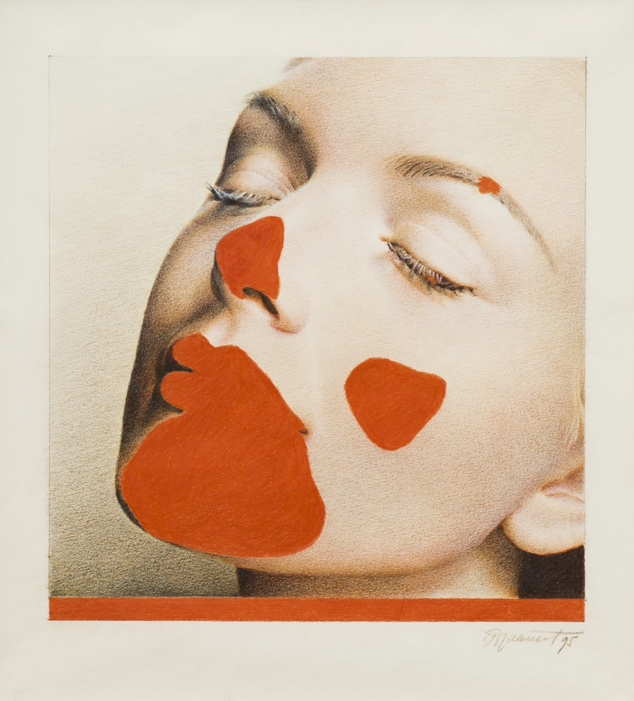 Erik Bulatov, Rouge a Levres, 1994, pencil on paper, 35 x 32 cm. Image credit Michael Brzezinski