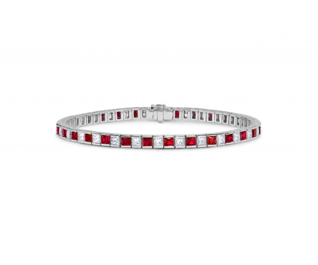 Asprey Ruby & Diamond Line Bracelet £15,000