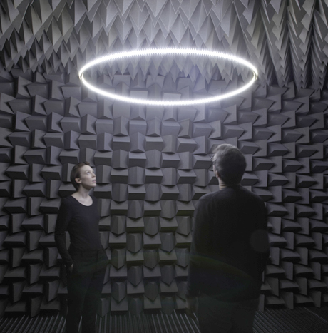 Haroon Mirza, Installation view, The National Apavilion of Then and Now (2011)
