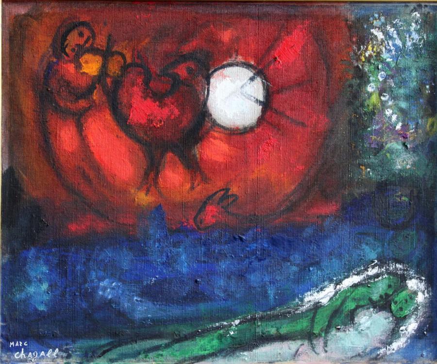 Chagall, Marc - Étude pour la Nuit de Vence
