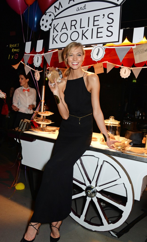 LONDON, ENGLAND - FEBRUARY 24: Karlie Kloss attends the The World's First Fabulous Fund Fair hosted by Natalia Vodianova and Karlie Kloss in support of The Naked Heart Foundation at The Roundhouse on February 24, 2015 in London, England. Pic Credit: Dave Benett