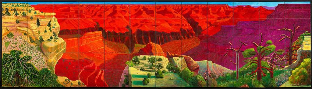 Дэвид Хокни, «Гранд Каньон» (1998), Национальная галерея Австралии