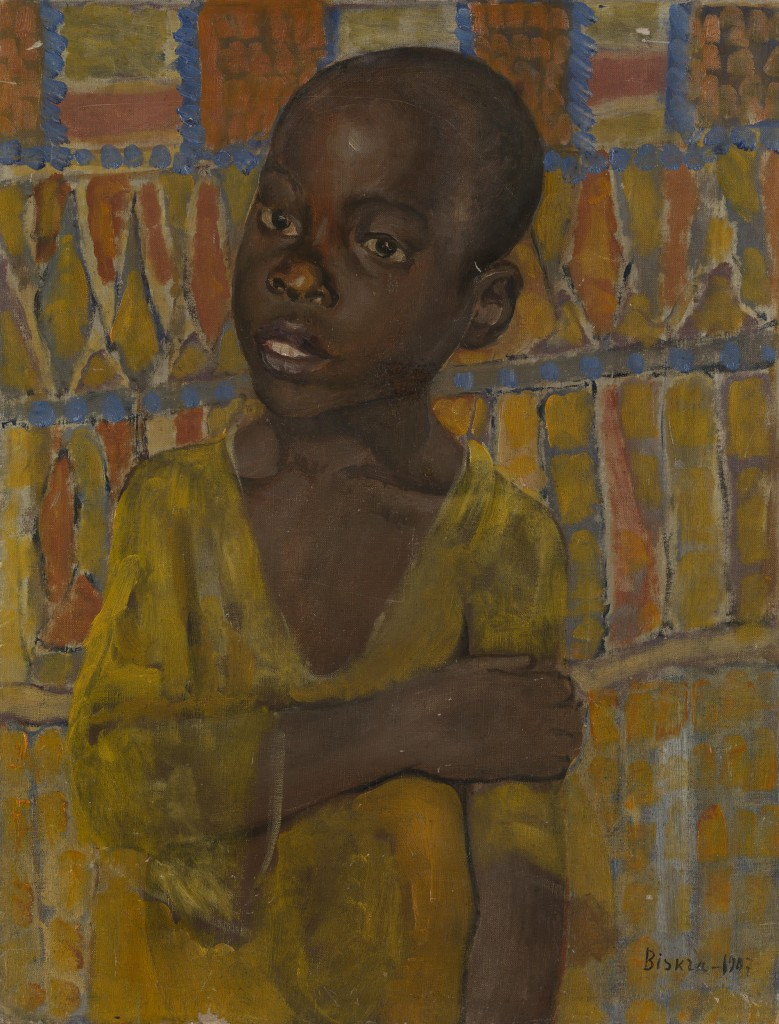 """Кузьма Петров-Водкин, «Портрет африканского мальчика», надписано """"Biskra"""" и датировано 1907. Холст, масло, 48,5 х 36,5 см. £400 000–600 000"""