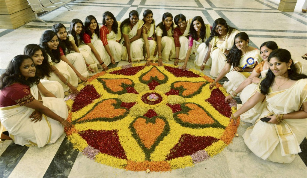 College students celebrate Onam festival