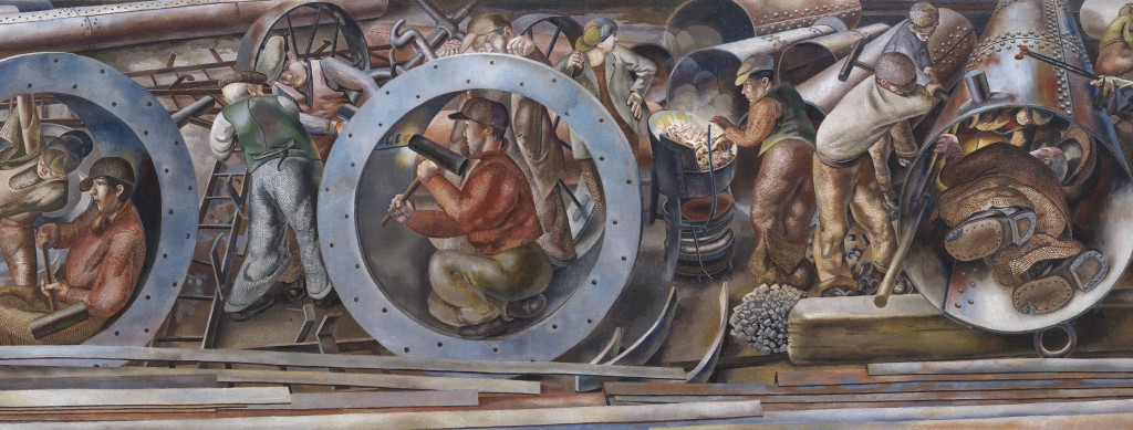 Detail-of-Riveters-from-the-series-Shipbuilding-on-the-Clyde-Stanley-Spencer-United-Kingdom-1941-Imperial-War-Museums