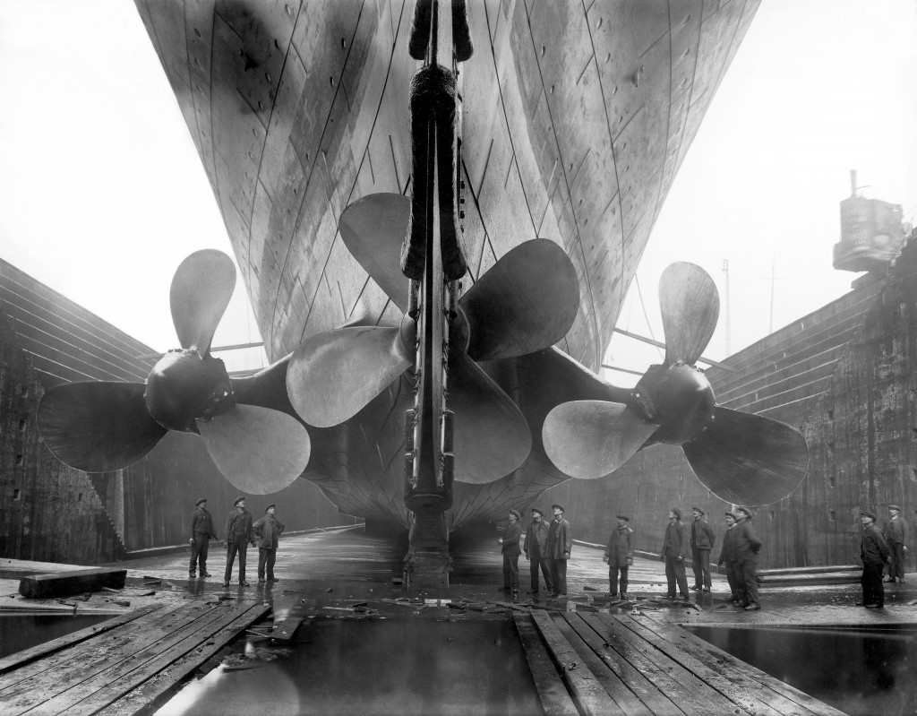 Titanic in dry dock, 1911. @Getty Images