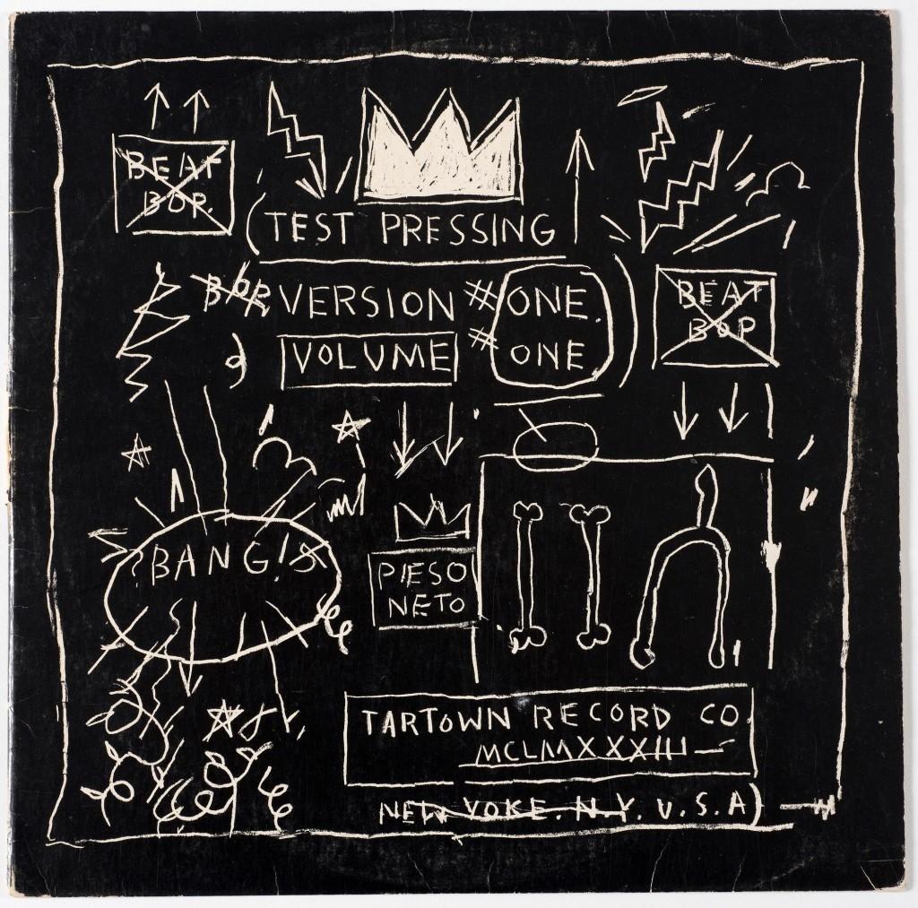 Жан-Мишель Баския. Обложка к синглу Beat Bop рэперов Rammellzee и K-Rob, 1983