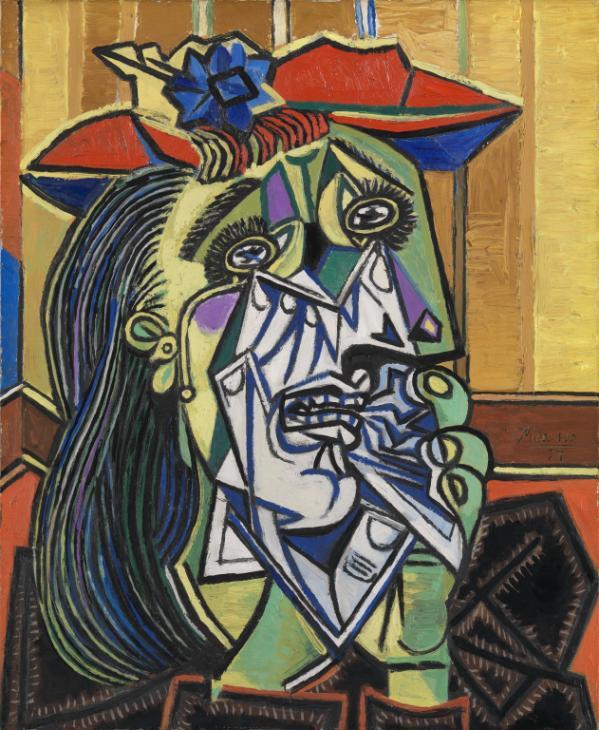 Пабло Пикассо.Плачущая женщина (Дора Маар), 1937, холст, масло, 61 x 50 см, галерея Тейт Модерн
