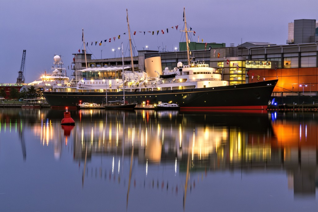 The Royal Yacht Britannia twilight © David Tomlins