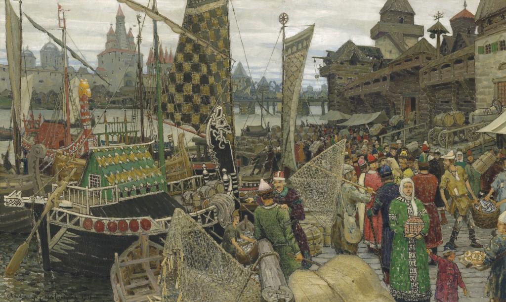 Полотно Аполлинария Васнецова (1856-1933) «Прошлое Великого Новгорода»