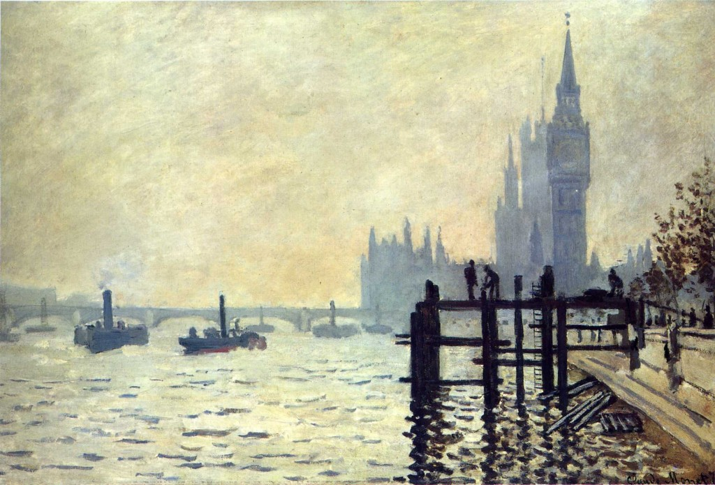 Темза под Вестминстером 1871, Клод Моне