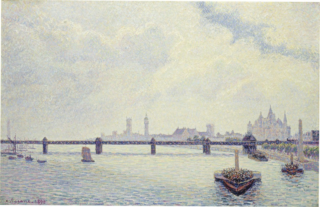 Мост Чаринг_Кросс, Лондон, 1890 Камиль Писсаро (National Gallery)