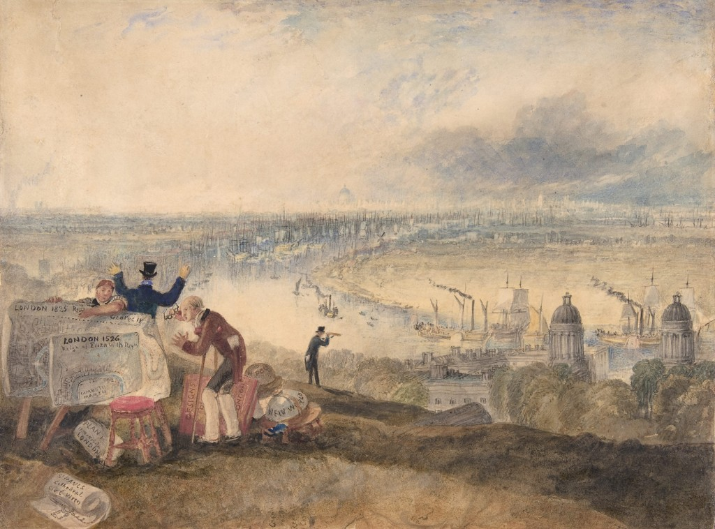 Вид на Лондон из Гринвича 1825, Уильям Тернер (The Metropolitan Museum of Art)