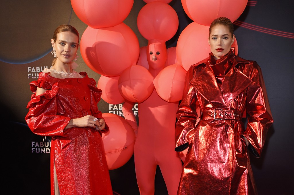 LONDON, ENGLAND - FEBRUARY 20: Natalia Vodianova (L) and Doutzen Kroes attend the Naked Heart Foundation's Fabulous Fund Fair at The Roundhouse on February 20, 2018 in London, England. Pic Credit: Dave Benett