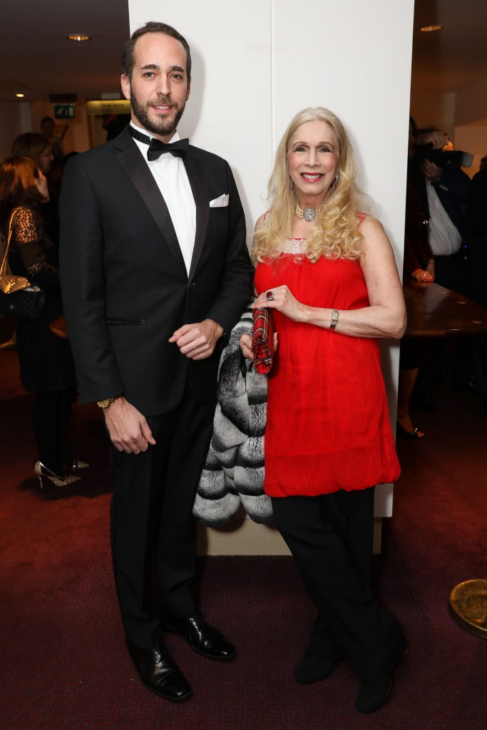 LONDON, ENGLAND - FEBRUARY 25: Olivier De Crussol D'Uzes and Lady Colin Campbell attends the Russian Ballet Icons Gala 2018 at London Coliseum on February 25, 2018 in London, England. (Photo by David M. Benett/Dave Benett/Getty Images for Ensemble Productions)