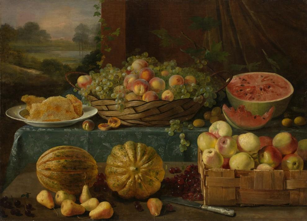 Иван Хруцкий, «Натюрморт с фруктами и сотами», 1840. 350 000–500 000 GBP