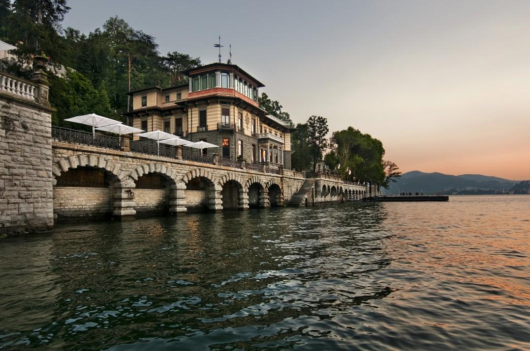 Villa Roccabruna dal lago