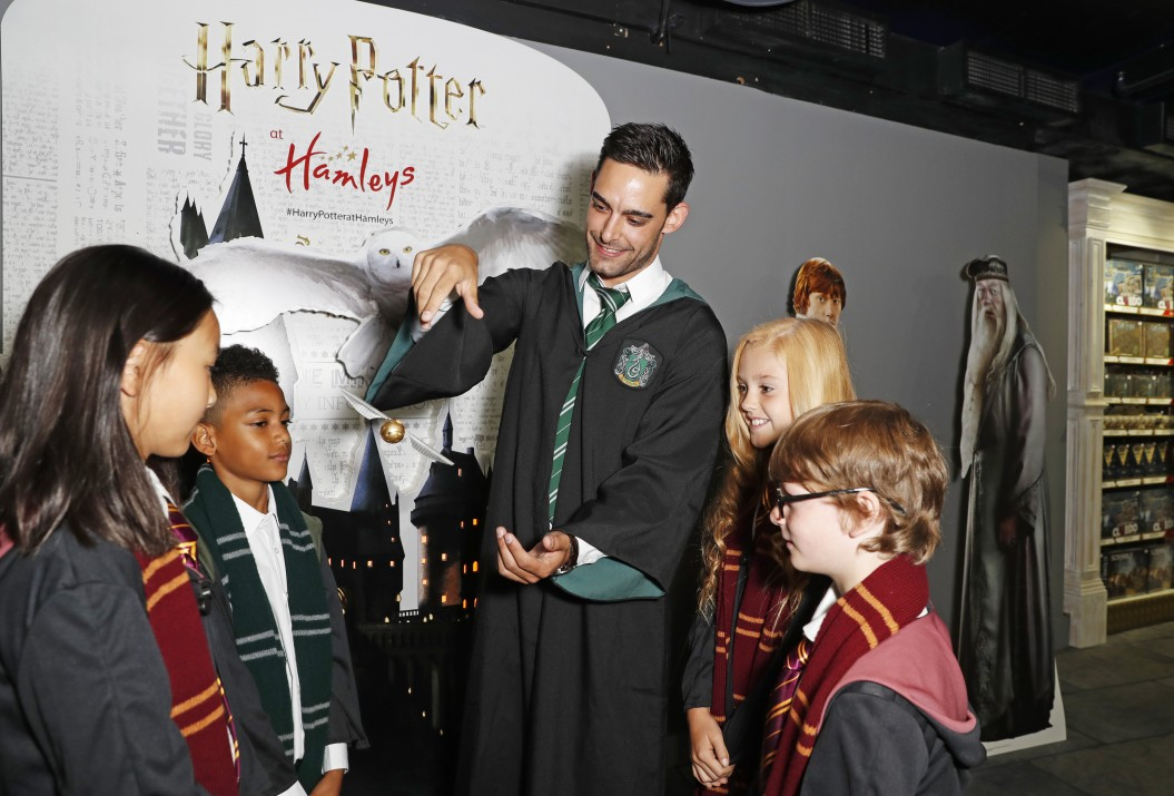 LONDON, ENGLAND - JULY 19:  A general view of the atmosphere at the launch of The Wizarding World of Harry Potter at Hamleys on July 19, 2018 in London, England.  (Photo by David M. Benett/Dave Benett/Getty Images for Way to Blue)