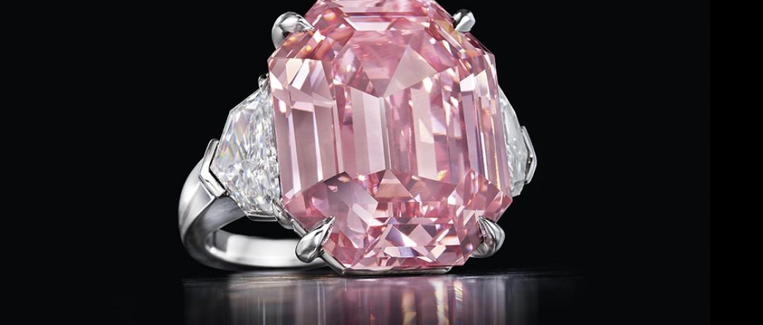 Christie`s выставил на торги самый крупный розовый бриллиант