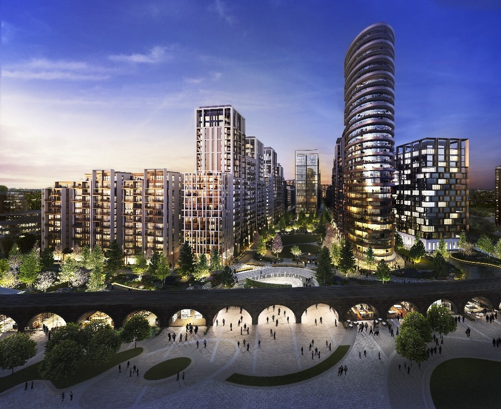 CGI of White City Overview Day Time - MW LandscapeCGI of White City Overview Night Time - MW Landscape