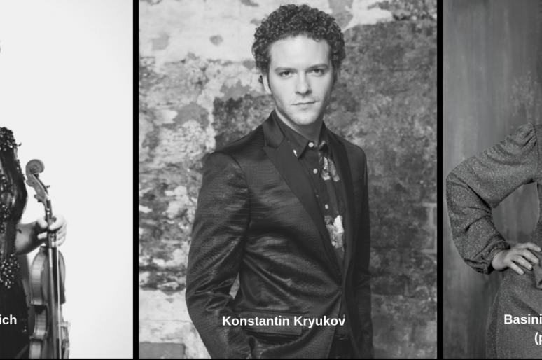Басиния Шульман, Елена Ревич и Константин Крюков в постановке «Шесть чувств»