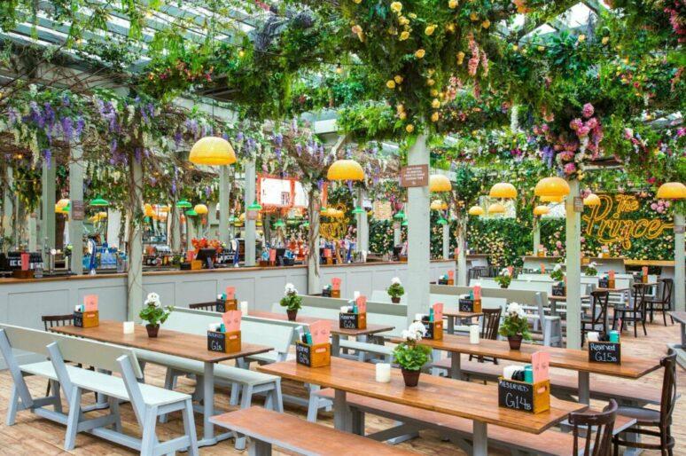 Живописные террасы кафе и ресторанов Лондона