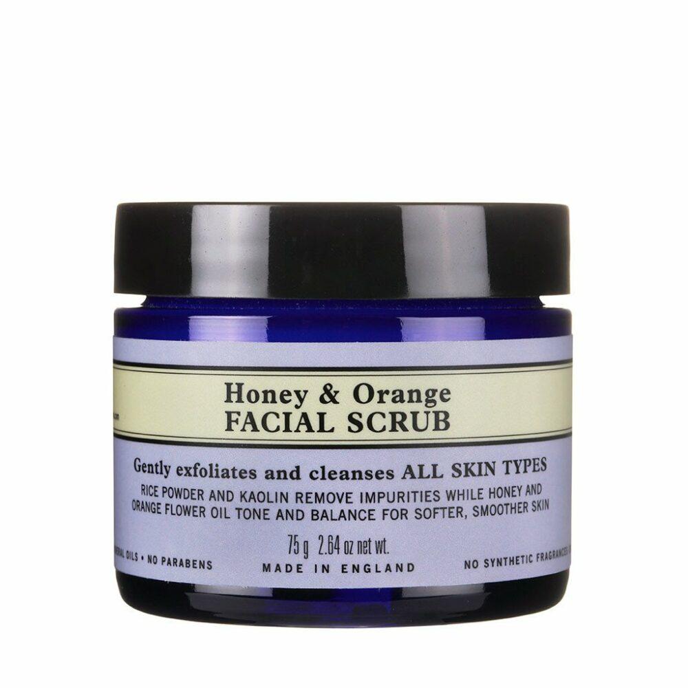 honey orange facial scrub